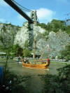 The Matthew Sails Under Clifton Suspension Bridge